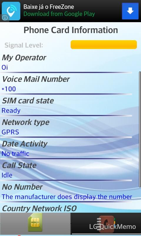 SIM Card Information & Phones - screenshot