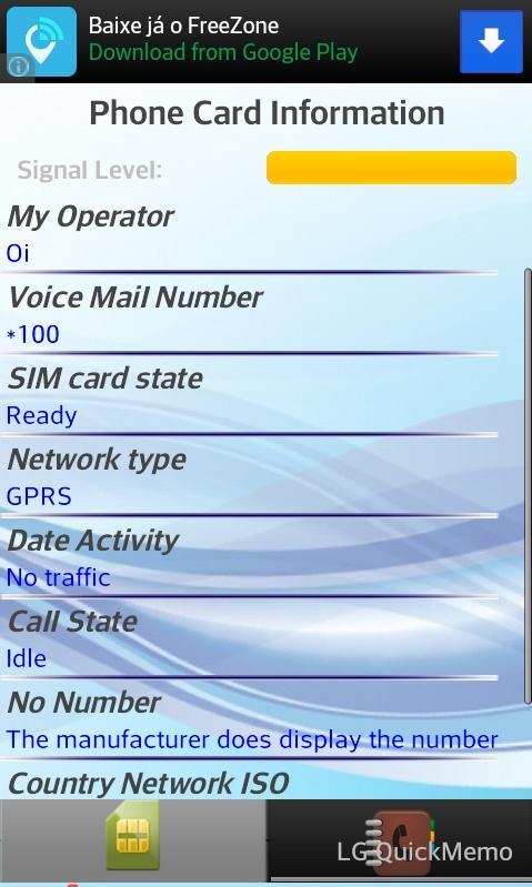 SIM Card Information & Phones - screenshot