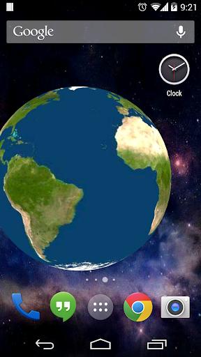 Rotating Earth 3D Wallpaper