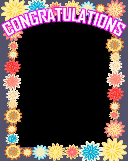 Congratulations Photo Frame