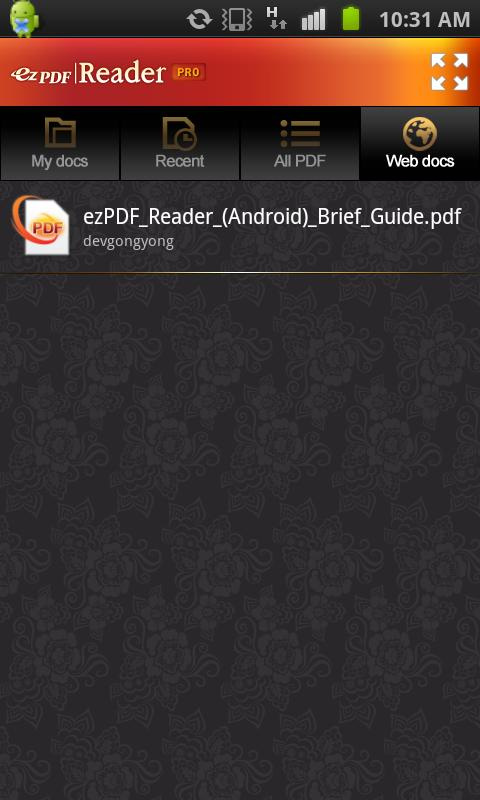 ezPDF Reader G-Drive Plugin - screenshot