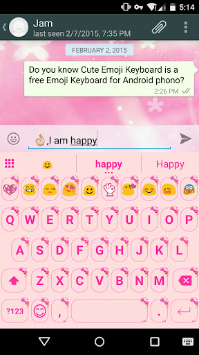 Pink Knot Love Emoji Keyboard