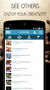 KU - creative social network Screenshot 5