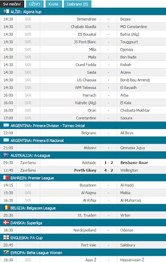 Soccer Kladionica Rezultati Uzivo Fudbal