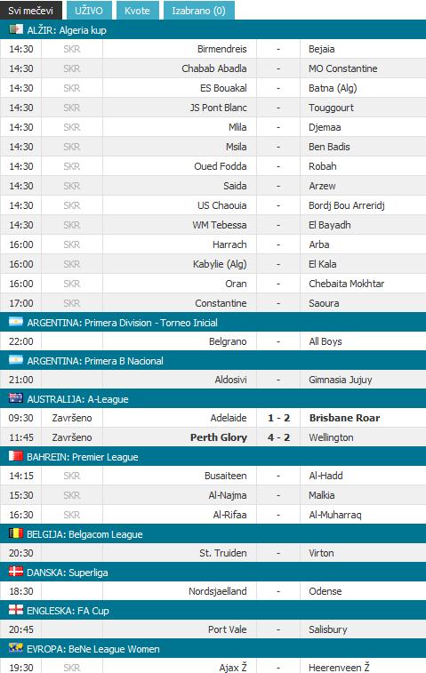 sportski rezultati nogomet