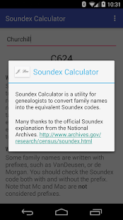 Soundex Calculator- screenshot thumbnail