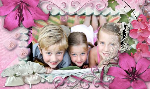 Romantic Flowers Photo Frames