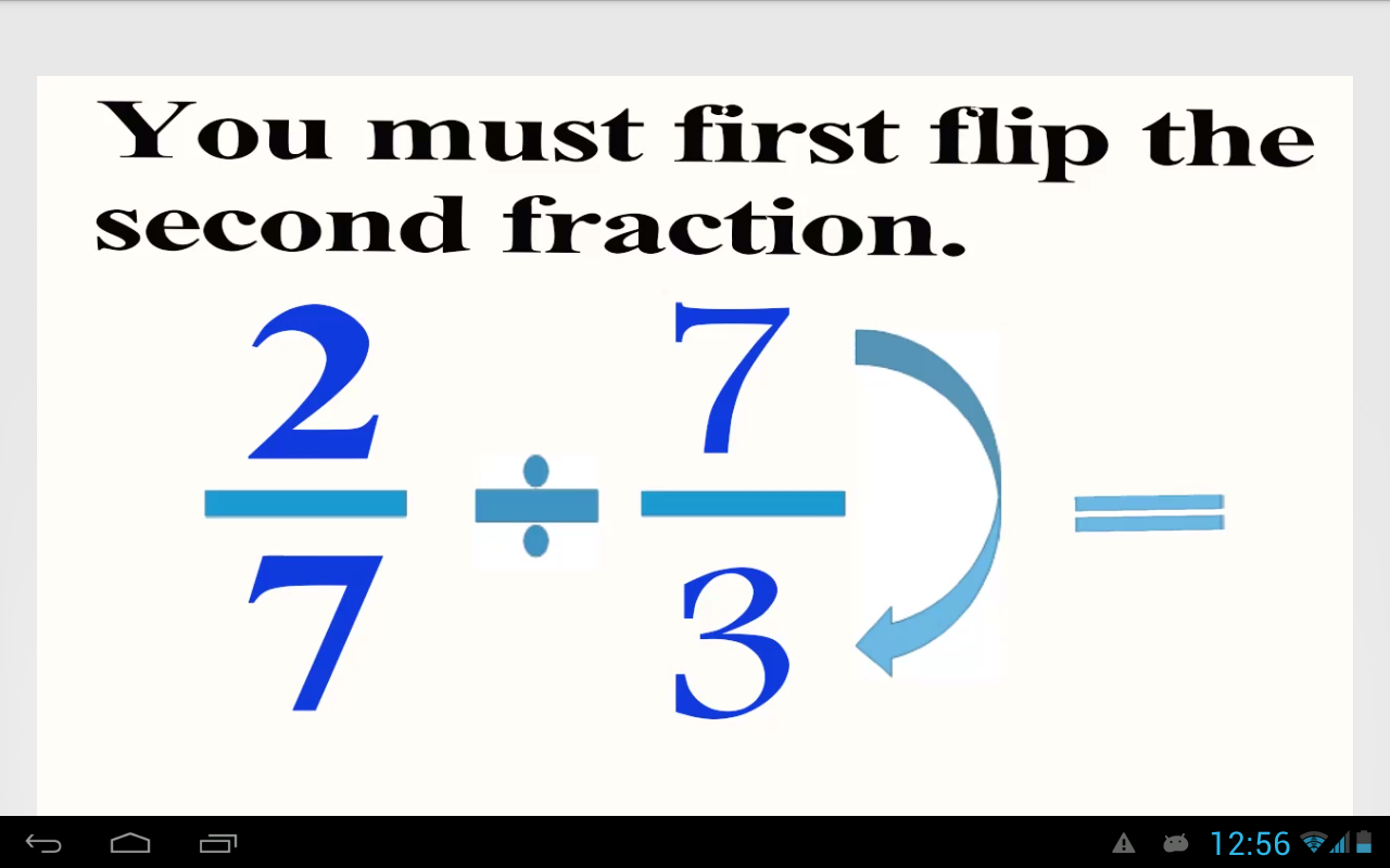 worksheet Divide Fractions dividing fractions android apps on google play screenshot