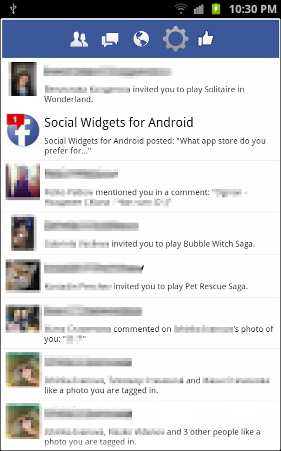 Social Widgets - screenshot