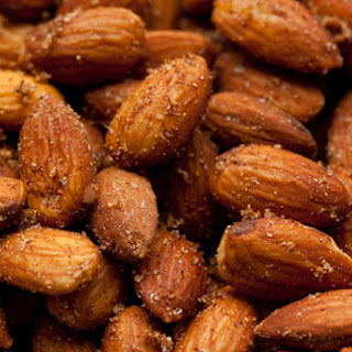 Sweet and Spicy Chinese Five Spice Roasted Almonds.