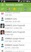 Screenshot of FamilyGTG (free) - Family Tree