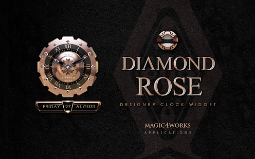 clock widget Diamond Rose
