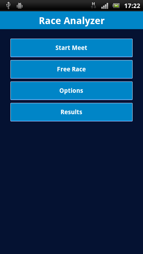 Swimming Race Analyzer - screenshot