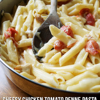 One Pan Cheesy Chicken Tomato Penne