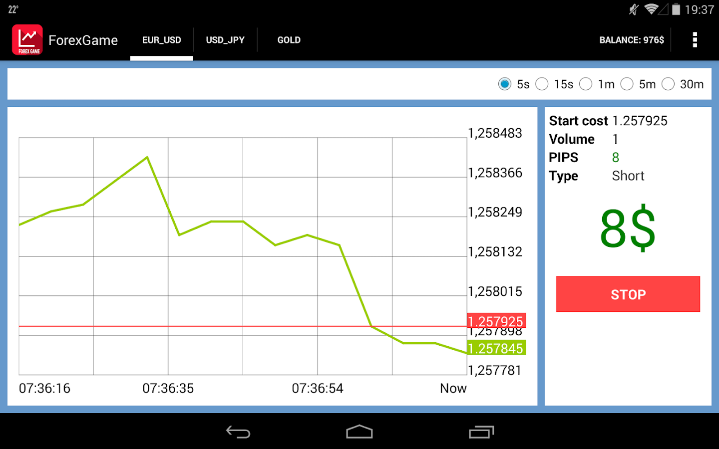 Live forex rate widget
