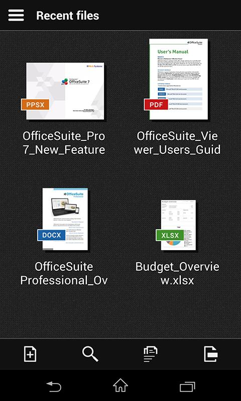 OfficeSuite 7 (PDF & HD) - screenshot