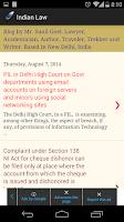 Screenshot of Indian Law