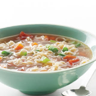 Ramen Soup with Vegetables.