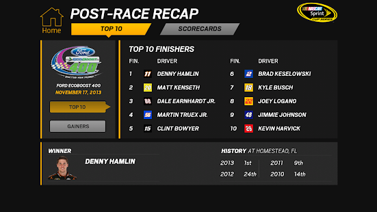 NASCAR RACEVIEW MOBILE Screenshot 39
