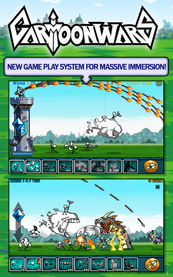 LINE cartoon wars - screenshot