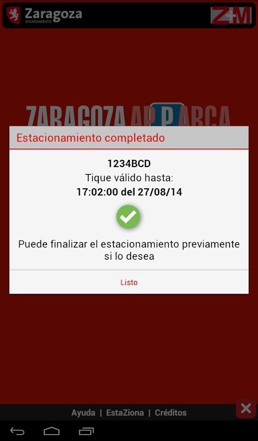 Zaragoza ApParca- screenshot