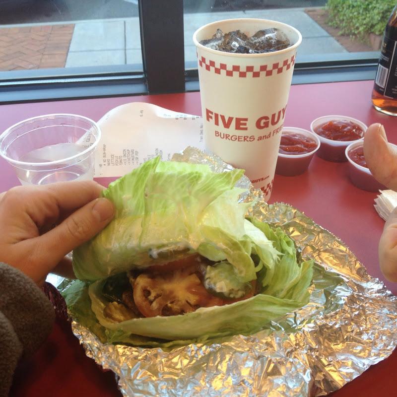 Lettuce Wrap Burger Five Guys At 9749 Northlake Centre