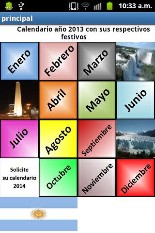 Calendario Festivos Argentina