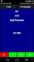 Screenshot of Portuguese Verb Trainer Pro