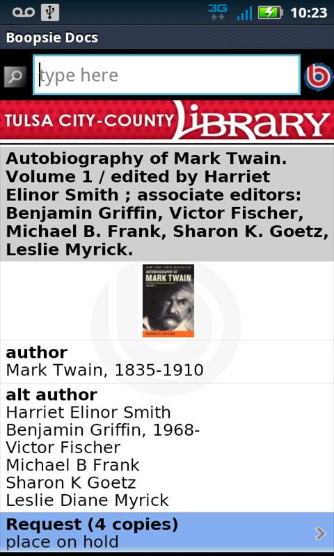 Tulsa City-County Library - screenshot