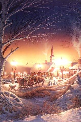 Oldfashioned Winter Scenes - screenshot