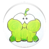 Draw Cut the Rope - Om Nom