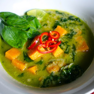 Sweet Potato and Tamarind Curry with Basil and Lime