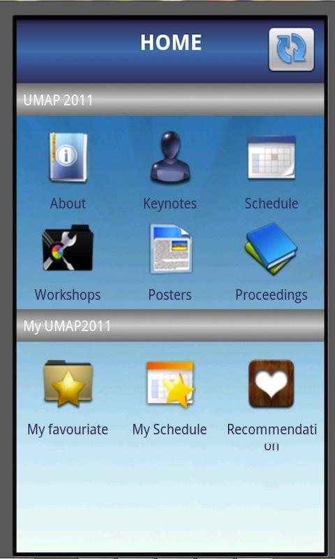 UMAP 2011- screenshot