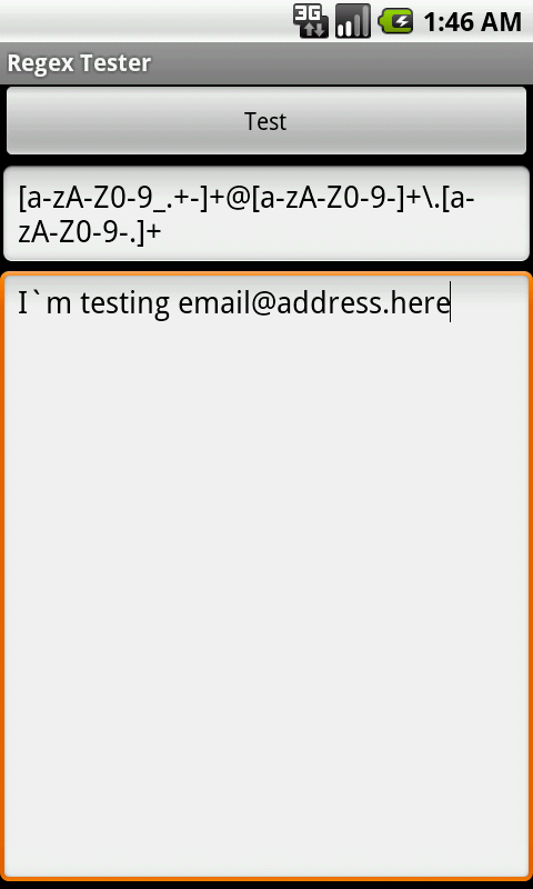 Regex Tester - screenshot