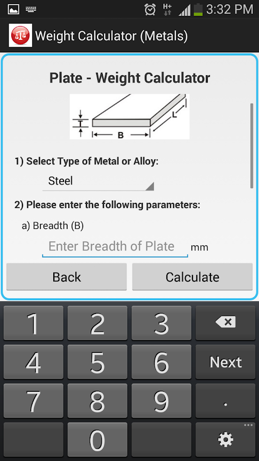Weight calculator metal android apps on google play