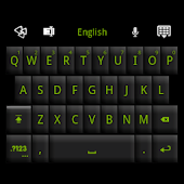 GO Keyboard Black Green Theme