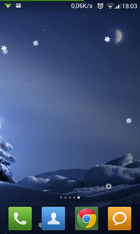Winter Snowfall LWP Ads-free - screenshot