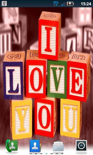 I Love You Blocks LWP Pro