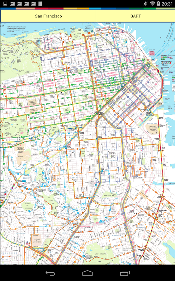 San Francisco Map Android Apps on