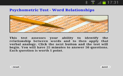 Psychometric Test Word Rel