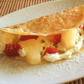 Fruit Crepes With Chantilly.