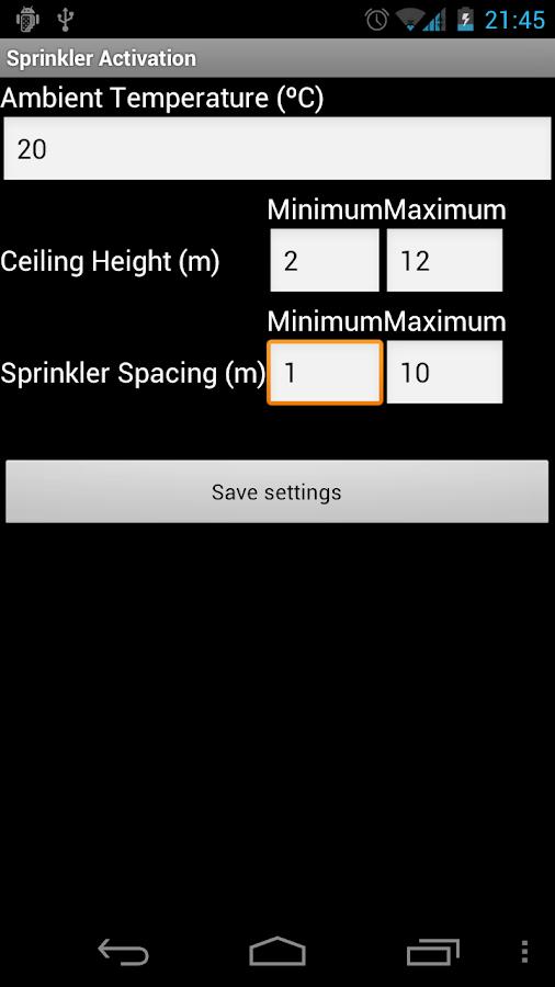 Sprinkler Activation- screenshot