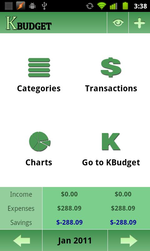 KBudget - screenshot