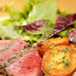 Grilled Sirloin Steak with Herbs.