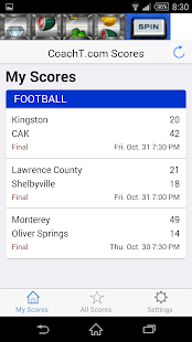 CoachT.com Scores- screenshot thumbnail