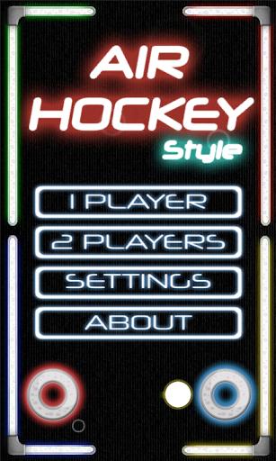 Air Hockey Style