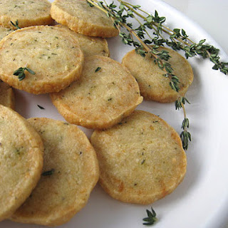 Parmesan Thyme Crackers.