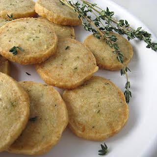 Parmesan Thyme Crackers.