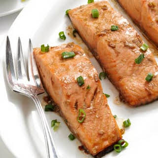 Maple Teriyaki Salmon Fillets.