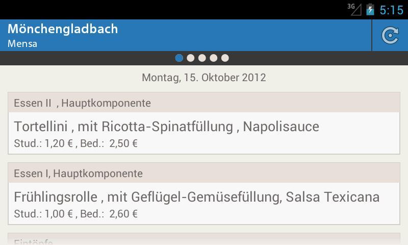 Mensa Mönchengladbach - screenshot